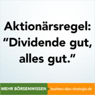 Aktionärsregel, Dividende