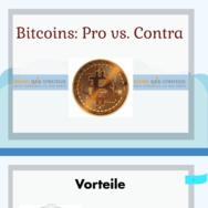 Bitcoins Vorteile vs. Nachteile