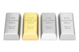 Gold, Silber, Platin und Palladium...